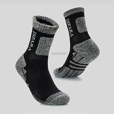 New INFARA 15 Pairs Men`s Sports Athletic Hiking Cushioned Black Socks 7-9 Size