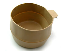 """Wildo/Proforce SWEDISH original large TAN """"Fold-A-Cup"""" collapsible drinking cup"""