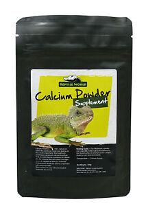 Reptile World Calcium Dusting Powder 100g - Tortoise, Bearded Dragon, Calcidust