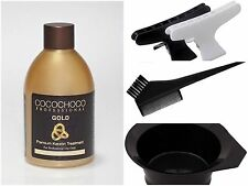 COCOCHOCO GOLD BRAZILIAN KERATIN STRAIGHTENING BLOW DRY HAIR TREATMENT FULL KIT
