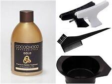 COCOCHOCO GOLD BRAZILIAN KERATIN STRAIGHTENING BLOW DRY HAIR TREATMENT FULL KIT
