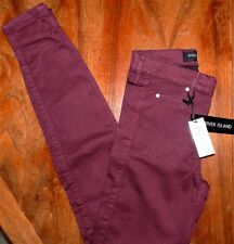 Skinny Jeans Pants Red River Island Misses size 4 New