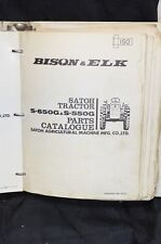 SATOH BISON & ELK Technical Service PARTS Catalog Manual S630 S650 S550 Tractor