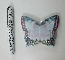 M Butterfly NOTE SET sticky pad 75 sheet pen Lady Jayne