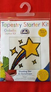 Tapestry, sewing starter kit by DMC Gobelin. 'SHOOTING STAR' Ideal present 6yrs+