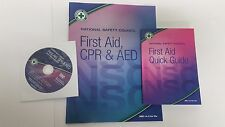 National Safety Council First Aid CPR & AED + Quick Guide + DVD New