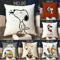 Home Decor Cute Snoopy Pillow Case Car Lumbar Sofa Dog Pillowcase Cushion Cover