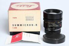 LEITZ Leica Summicron-R 90mm f2 3 Cam 1:2/90 R3 R4 R5 R6 R6.2 R7 R8 R9 DMR 11219