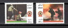 LEBANON- LIBAN SC# 652-653 CIVIL DEFENSE- FIREFIGHTERS MNH
