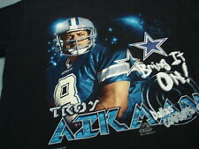 Vintage TROY AIKMAN DALLAS COWBOYS T shirt Youth XL 8185989f7