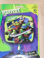 Teenage Mutant Ninja Turtles - 17inch square foil balloon. FREE P& P  ( Party)