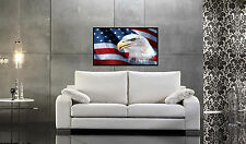 American Flag & Eagle Repositionable Color Wall Sticker Print 36x21