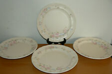 Set of 4 Pfaltzgraff Tea Rose Dinner Plates - USA
