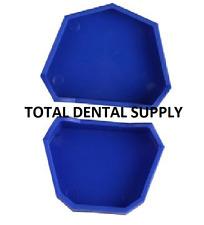 Large Blue Dental Lab Model Base Former Molds Tray Loading with Notches Set/6