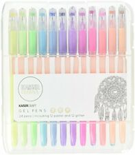 Kaiser Colour Gel Pens Pastel Glitter Colors Drawing Sketching Craft Set 24Pack