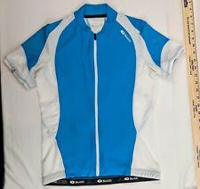 Sugoi Cycle Jersey Sz X-S Blue White Short Sleeve Bike Shirt Full Zip 3 Pocket