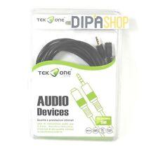 Cavo Audio TeKone TO-AV086C Prolunga Jack 3,5mm Maschio - Femmina Lungh 5m hsb