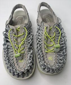 Keen Women Shoe Uneek Round Cord Size 9W Gray Sandal Pre Owned