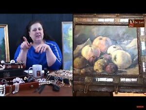 19th Century still life in gold frame appraised by Dr. Lori