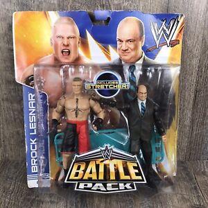 WWE Brock Lesnar Paul Heyman Battle Pack Series 25 Mattel 2013 Wrestling Figures