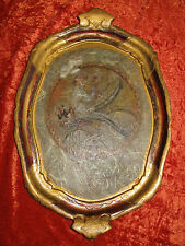 PLATEAU FLORENTIN EN BOIS DÉCORÉ ET DORÉ--SERVING TRAY ITALIAN FLORENTINE--N°176