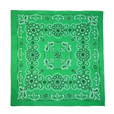 CTM 27 Inch Extra Large Cotton Texas Paisley Bandana Green