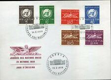 416554) Schweiz ONU/UNO FDC Nr. 22-27, Genf 1955, 75,-