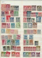 mixed europe stamps sheet ref 17802