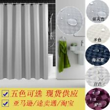 Check Waterproof Shower Curtain Bathroom Mildew Resistant Washable Mold Polyeste