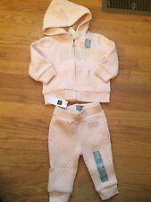 Baby Gap Girl 3-6m Zip Up Hoodie& Sweatpants Outfit NWT