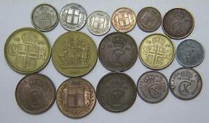 ICELAND ISLAND KRONUR AURAR MIXED TYPE WORLD COIN COLLECTION LOT 🌈⭐🌈