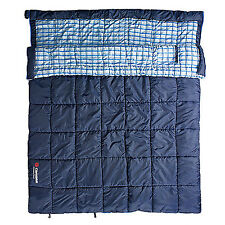 Caribee Safari Double Hooded 0c Premium Couples Sleeping Bag NAVY