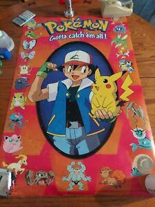 Vintage 1999 Pokemon Clock Scorpio Posters Nintendo Tested & Working
