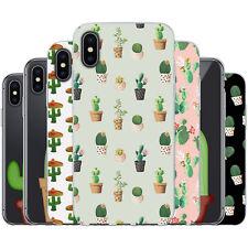 Dessana Cactus Lindo Funda Protectora Silicona Carcasa Móvil Estuche para Apple