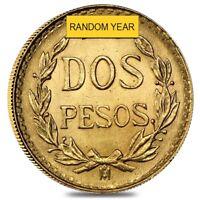 2 Pesos Mexican Gold Coin (Random Year)