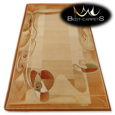 "NATURAL WOOL AGNELLA RUGS sahara abstract ""ISF"" thick and durable carpet"