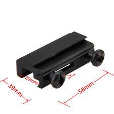 20 mm de cola de Milano a 11mm Weaver Rail extensión Picatinny Scope Mount Base