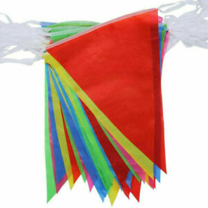10Meter 20Flags Multi Colour Banner Fete Bunting Party Home Garden Decoration uk