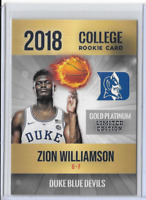 Zion Williamson Custom Rookie Phenoms Gold Platinum Limited Card Only 2000 Made