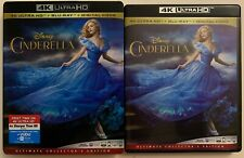 DISNEY CINDERELLA 2015 4K ULTRA HD BLU RAY 2 DISC + SLIPCOVER SLEEVE COLLECTORS