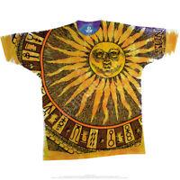 SUN MOON-Stars-2 SIDE TIE DYE & PRINT SHIRT L,XL,XXL-3X,4X,5XL,6X Horoscope