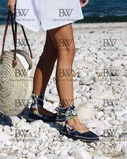 Zara Lace Up Leather Espadrilles Size Uk5/38 BNWT