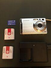 Sony Cybershot Digital Camera DSC W90. 2 Batteries. Charger. Memory Card. Bundle