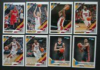 2019-20 Panini Donruss Miami Heat Base Team Set of 8 Basketball Cards