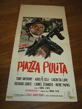 LOCANDINA,PIAZZA PULITA TONY ANTHONY ADOLFO CELI LUCRETIA LOVE 1973  S/6