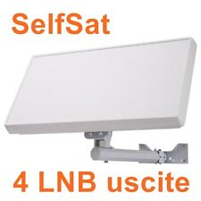 ANTENNA SATELLITE FLAT 4 OUTPUTS QUAD SELFSAT H21D4-IT 34,5dB HOMOLOGATED SKY