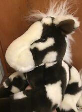 AURORA FLOPSIES BROWN WHITE HORSE PONY Plush STUFFED ANIMAL FLOPPY DOLL TOY