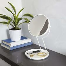 Umbra® See Me Kosmetik Spiegel rund Schminkspiegel Schmuckständer weiß 5fach