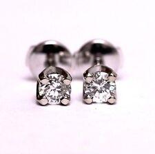 GIA certified New 14k white gold .65ct VS1 J round diamond earrings estate