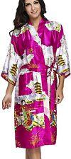 FLYCHEN Womens satin kimono robe sleepwear for ladies plus size 4XL, Purple